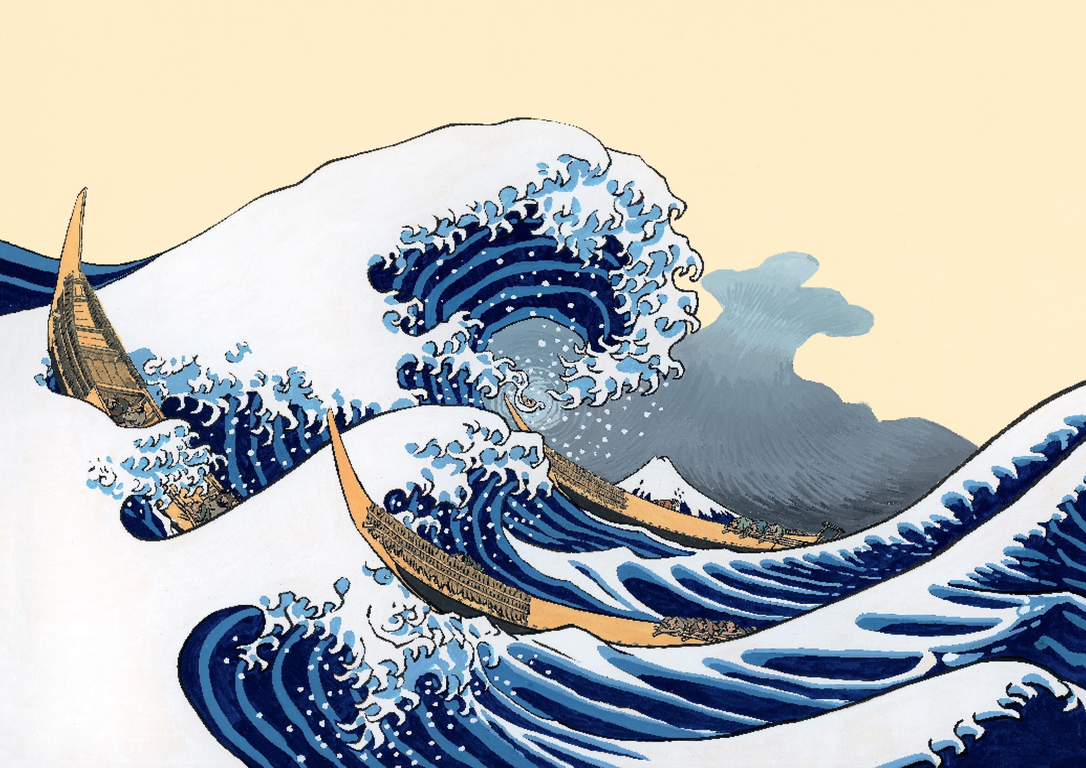 la grande vague hokusai ditions callic phale. Black Bedroom Furniture Sets. Home Design Ideas